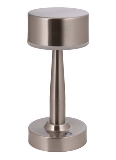 Avonni  ML-64005-N Nikel Kaplama Masa Lambası LED Metal Pleksi 11cm Renkli
